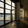 Stock Photo: Modern empty villa, large window