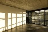 Modern empty villa, large window — Photo