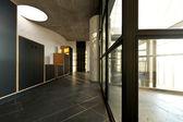 Modern empty villa, large window — Stock Photo