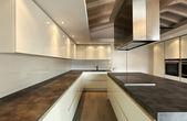 Kitchen, modern architecture contemporary — Stok fotoğraf