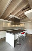 Kitchen, modern architecture contemporary — Stock Photo