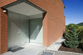 Modern brick house — Stock Photo