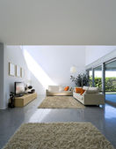 Interior modern brick house — Stockfoto