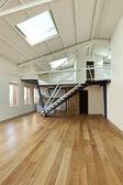 Apartment with mezzanine — Stock Photo