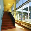 Public school, staircase and corridor — Stock Photo