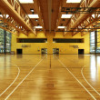 Public school, interior wide gym — Stock Photo #34794391