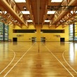 Public school, interior wide gym — ストック写真