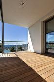 Modern apartment, balcony — Stock Photo