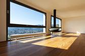 Modern apartment, large living room — Stock Photo
