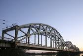 Bridge over the river — Стоковое фото