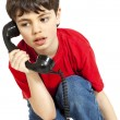 Little boy, phone — Stock Photo