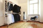 Men's wardrobe, nice apartment refitted — Stock Photo