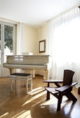 Piano, Interior house — Stock Photo