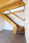Wooden staircase — 图库照片