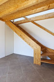 Wooden staircase — Stockfoto