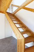 Wooden staircase — Stock fotografie