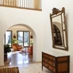 Corridor with antique furniture — Stock Photo