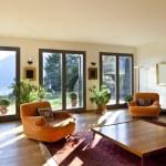 Living room with orange armchairs — Stock Photo