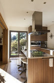 Beautiful apartment, interior, kitchen — Stock Photo