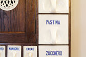 Drawers of old kitchen cabinet — Stock Photo