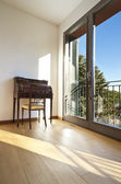 Beautiful apartment, interior, classic deck — Stok fotoğraf