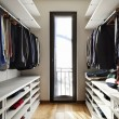 Stock Photo: Interior modern wardrobe