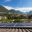 Stock Photo: Solar panels on the roof
