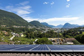 Solar panels on the roof — Foto Stock