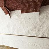 Rough white wall — Stock Photo