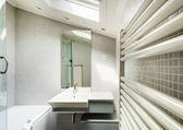 Modern bathroom in an old loft — Stockfoto