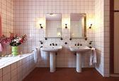 Bekvämt badrum — Stockfoto