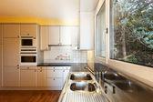 Kitchen with window — Stock Photo