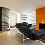 Modern house, living-room — Stock Photo