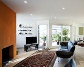 Woonkamer met het moderne meubilair — Stockfoto