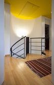 Piso com escada em espiral — Fotografia Stock