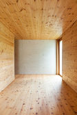 Room with wooden walls — Stock Photo