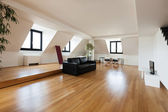 Hardwood floor, living room — Stock Photo