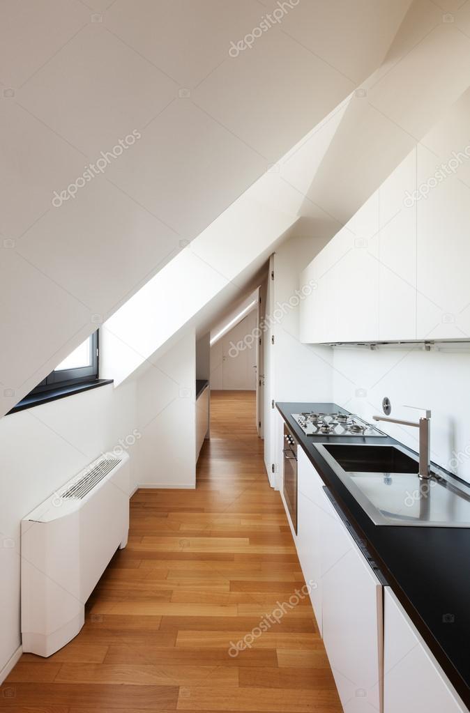 Cucina moderna, loft — Foto Stock © Zveiger #41346487