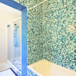 Stock Photo: Bathroom, tiled wall