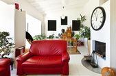 Interni loft, soggiorno — Foto Stock