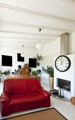 Furnished living room — Stock Photo