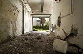 Debris in the garage — Stock Photo