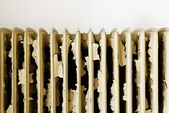 Old rusty radiator — Stok fotoğraf