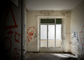 Abandoned building, empty room — Stock Photo