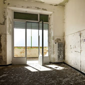 Bina, boş oda terk — Stok fotoğraf