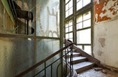Abandoned building, stairwell — Stock Photo