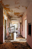 Corridor of old destroyed house — Photo