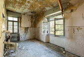 Abandoned  room with window — Stock Photo
