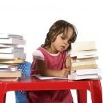 Little girl  studying — Stock Photo #43387289