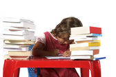 Little girl  studying — Stock Photo